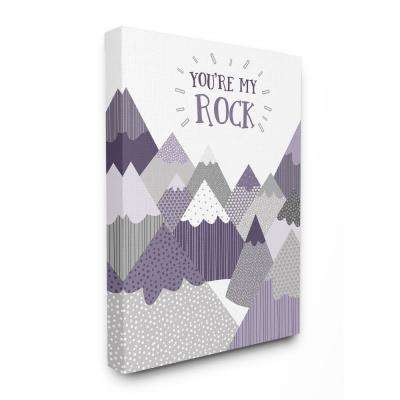 "16 in. x 20 in.  ""You're My Rock Mountain Collage"" by A.V. Art Canvas Wall Art"