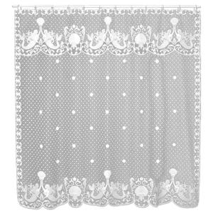 Heritage Lace Mermaids 72 inch White Shower Curtain by Heritage Lace