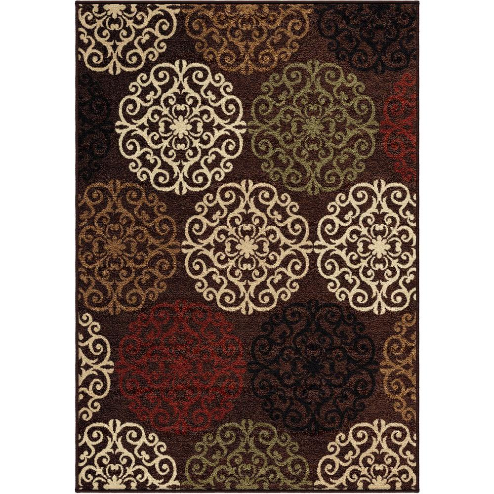 null Harbridge Brown 5 ft. 2 in. x 7 ft. 6 in. Indoor/Outdoor Area Rug