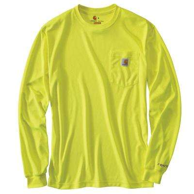 Personal Protective Regular Medium Brite Lime Polyester Long-Sleeve T-Shirt