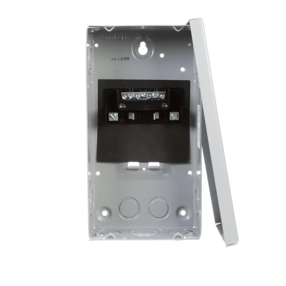 60 Amp 2-Space 4-Circuit Surface Mount Main Lug Load Center