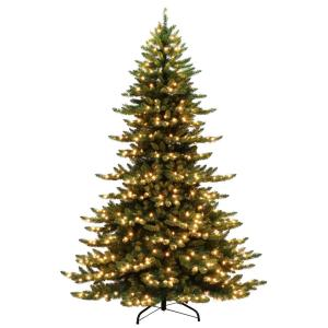 7.5 ft. Pre-Lit Princess Spruce Artificial Christmas Tree with 700 UL Listed Clear Lights