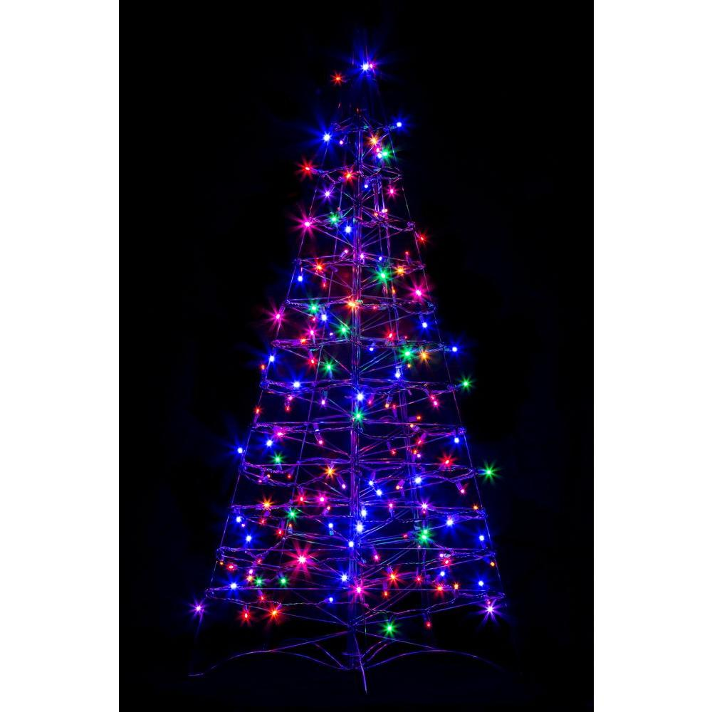 crab pot trees 4 ft pre lit led fold flat outdoorindoor artificial - Outdoor Christmas Trees