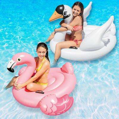 Swan and Flamingo Ride-On Swimming Pool Float Combo Pack