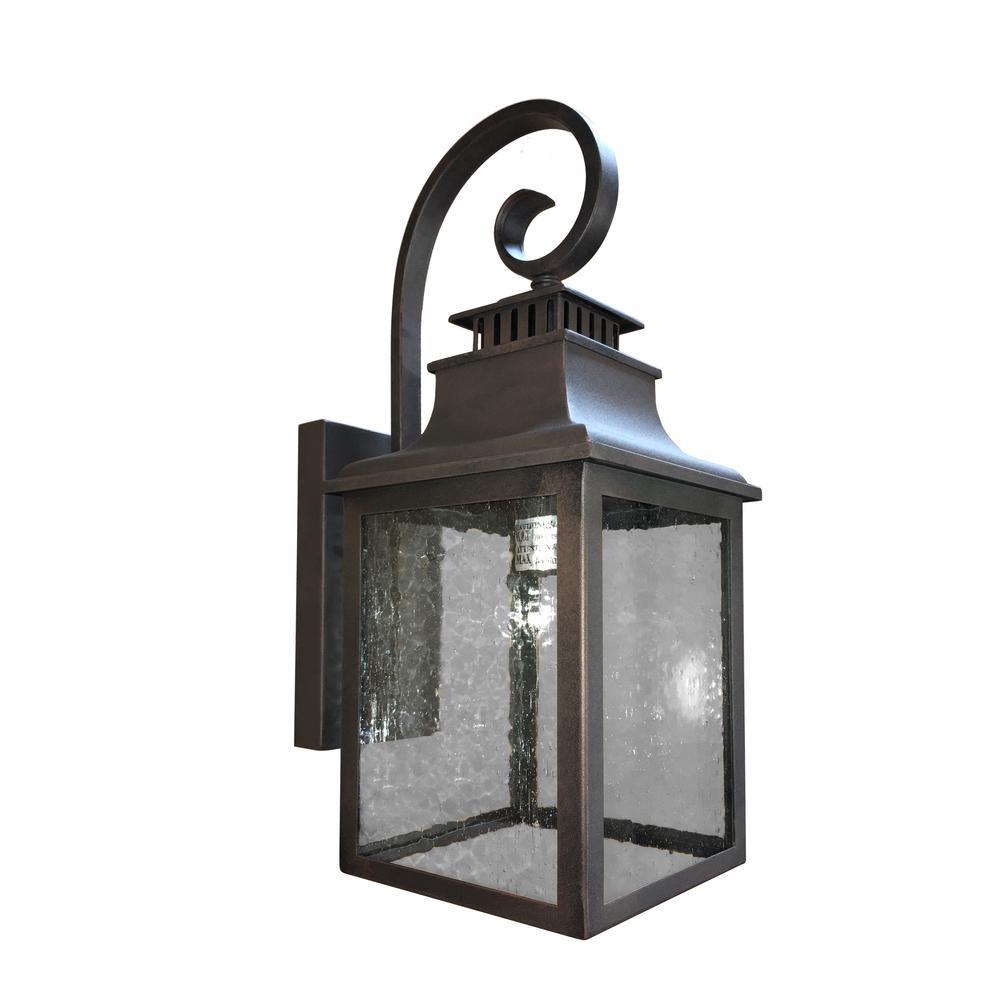 Morgan 1-Light Rustic Bronze Outdoor Sconce