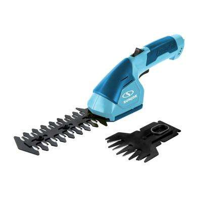 7.2-Volt Cordless 2-in-1 Grass Shear and Hedge Trimmer in Blue