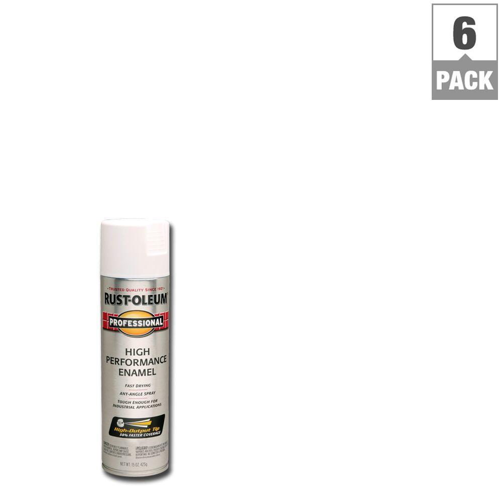 15 oz. Semi-Gloss White Spray Paint (6-Pack)