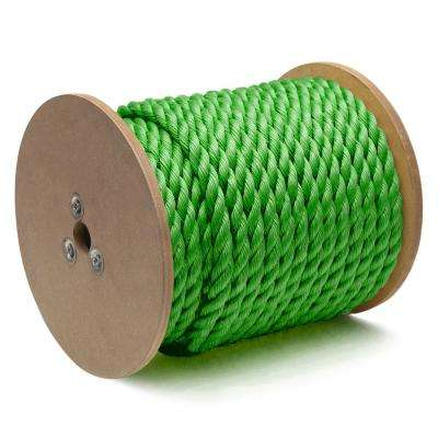 3/4 in. x 150 ft. Polypropylene Twisted Rope 3-Strand, Green