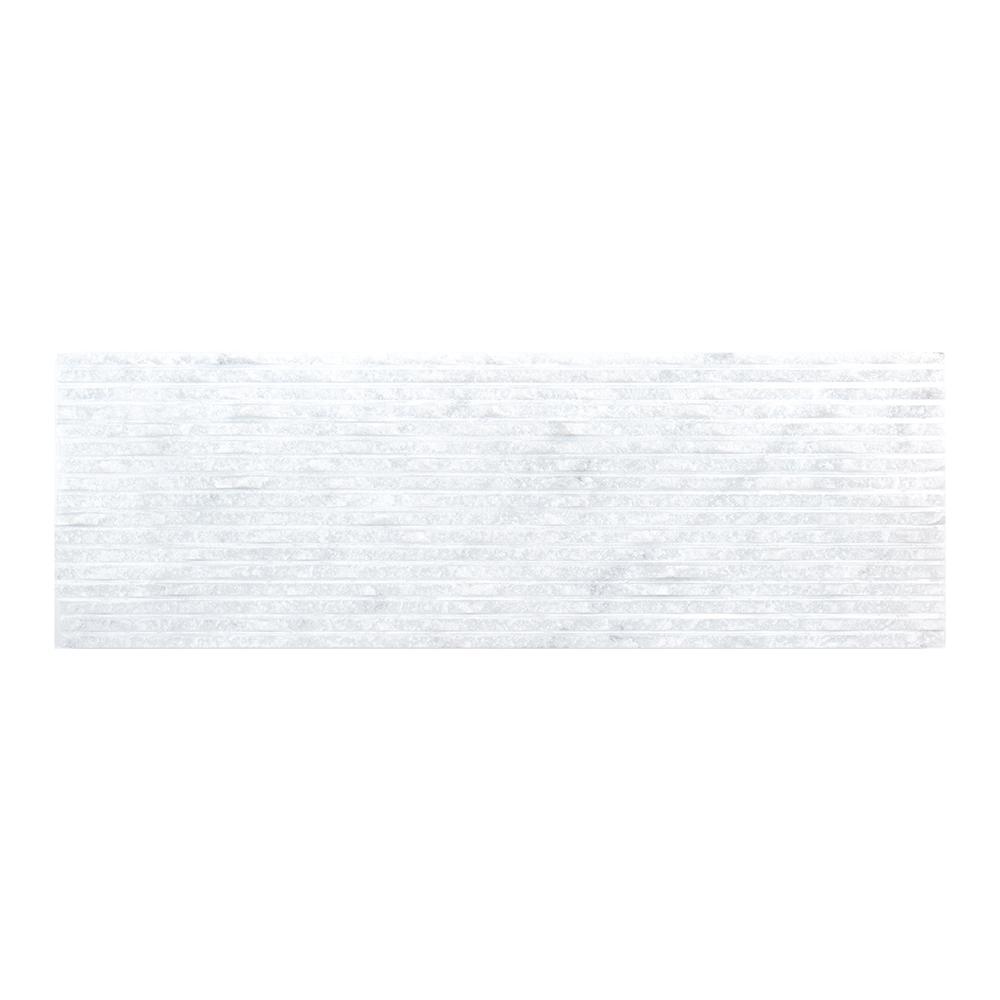 Snow Cap 4 in. x 12 in. Marble Field Wall Tile