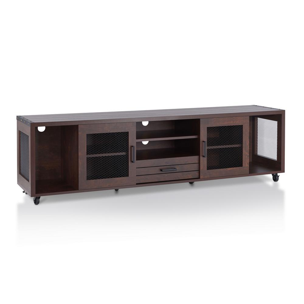 Delightful Furniture Of America Coopern Vintage Walnut TV Stand