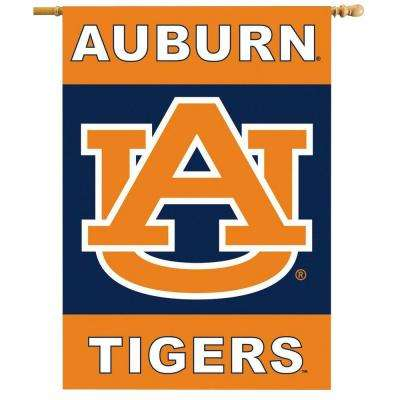 NCAA 28 in. x 40 in. Auburn 2-Sided Banner with Pole Sleeve