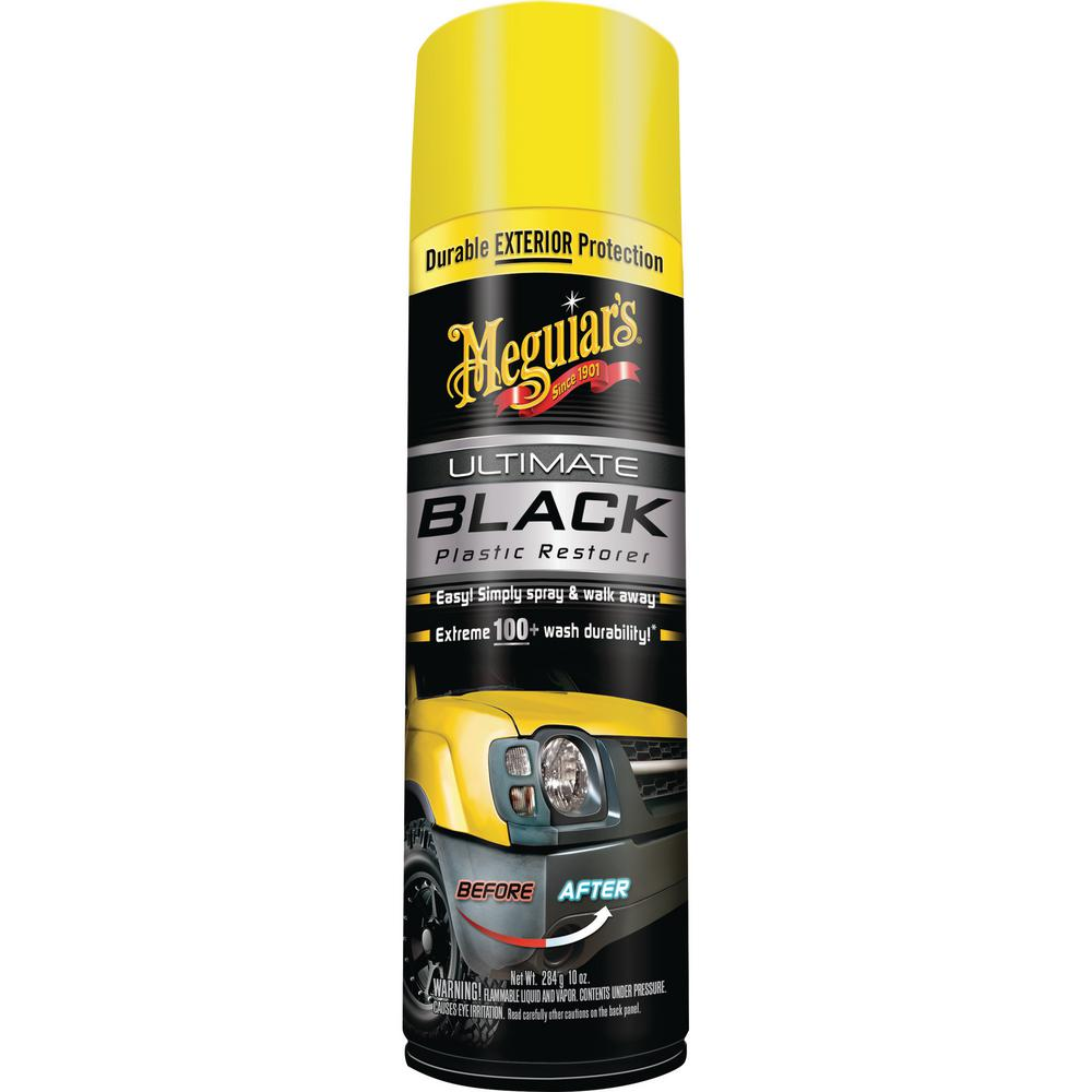 Meguiar 39 s 10 oz ultimate black trim restorer mi01081 the home depot Black interior car trim restorer