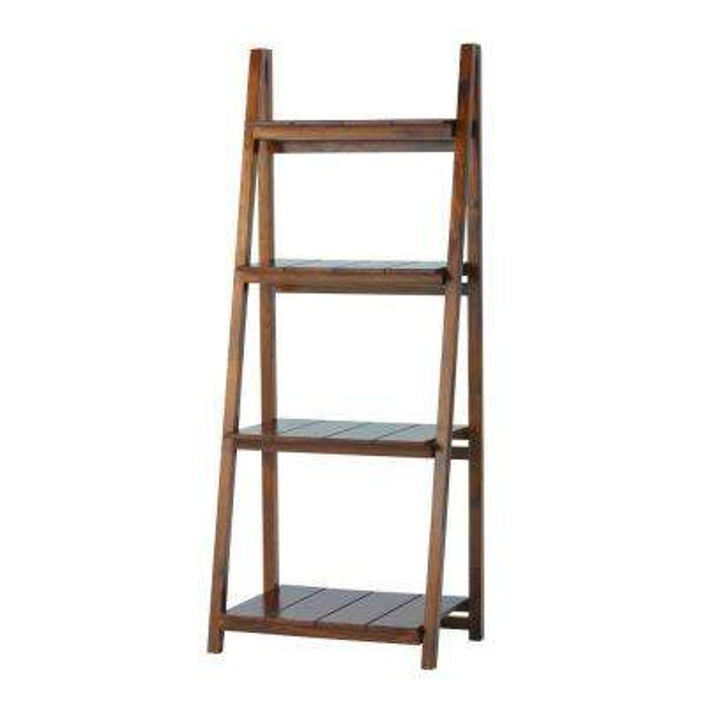 Nolan Warm Brown Folding Ladder Bookcase