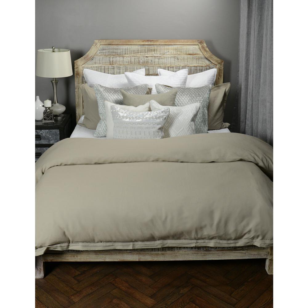 Harlow Natural Linen Blend Queen Duvet Cover