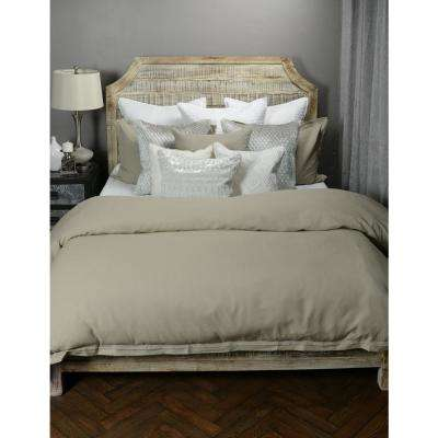 Harlow Natural Linen Blend Queen Duvet Cover