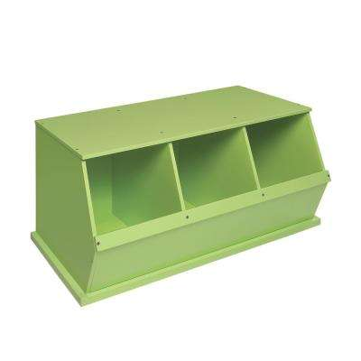 37 in. W x 17 in. H x 19 in. D Sage Stackable 3-Storage Cubbies