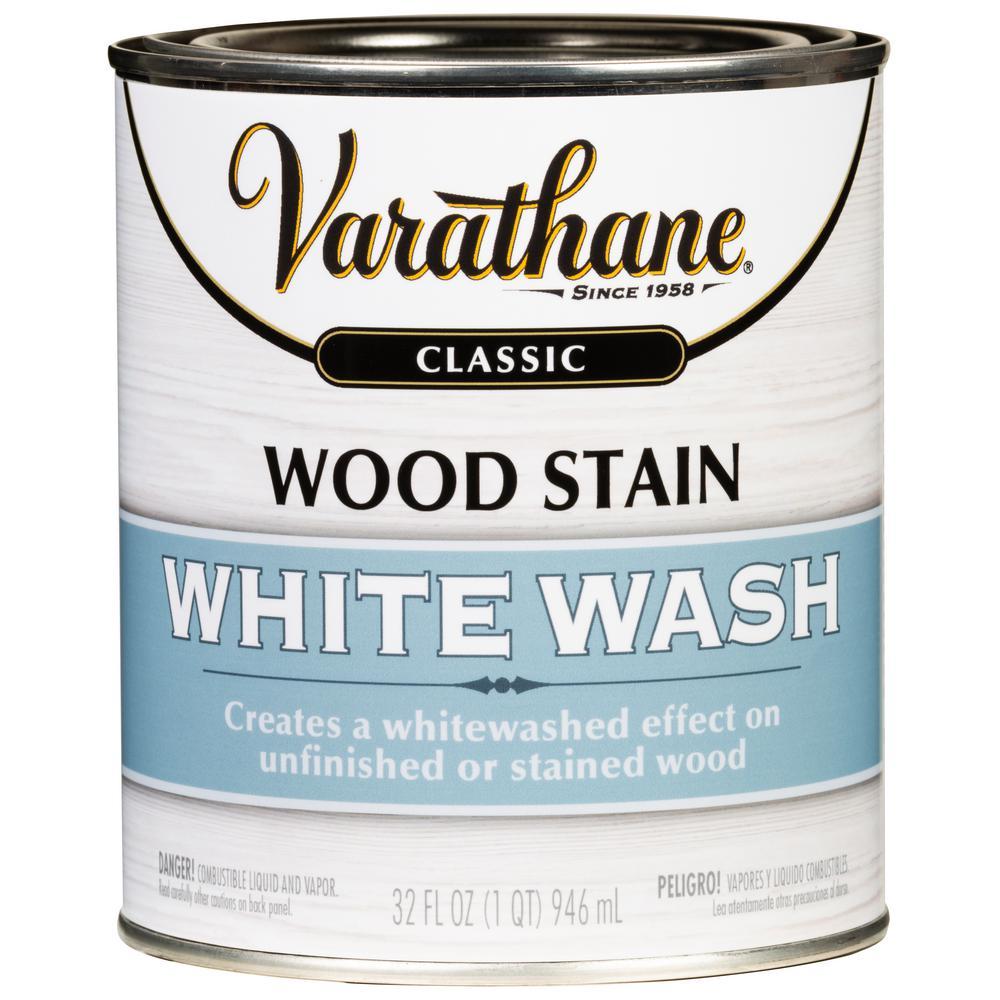 White Wash Wood Stain: Varathane 1 Qt. White Wash Interior Wood Stain-349565