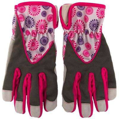 Women's S Utility Gloves in Pink-Purple