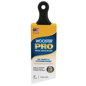 Wooster 3 in  Pro White China Bristle Flat Brush-0H21170030