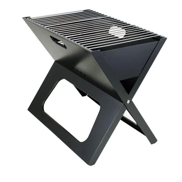 X-Grill Folding Portable Charcoal Grill in Black
