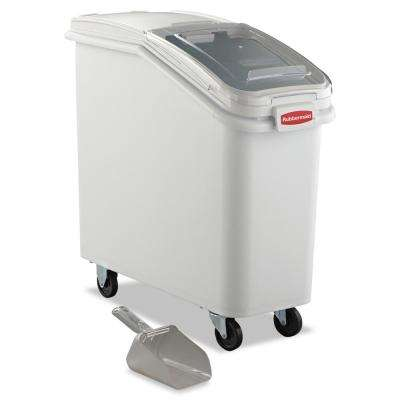 25 Gal. White ProSave Mobile Ingredient Bin with 32 oz. Scoop