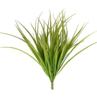 Indoor 16 in. Two Tone Green Grass (Set of 3)