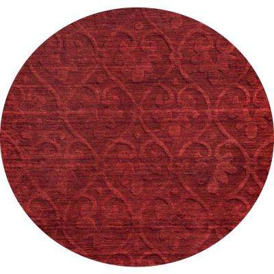 Technique Red Solid 8 ft. x 8 ft. Round Area Rug