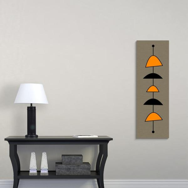 GreatBigCanvas 12 in. x 36 in. ''Mobile 2 in Orange'' by