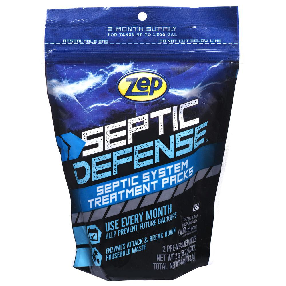 ZEP 4 oz. Septi-Pak Concentrated Septic System Treatment ...