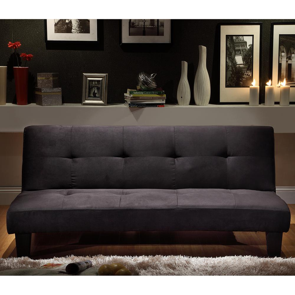 Medium image of black futon