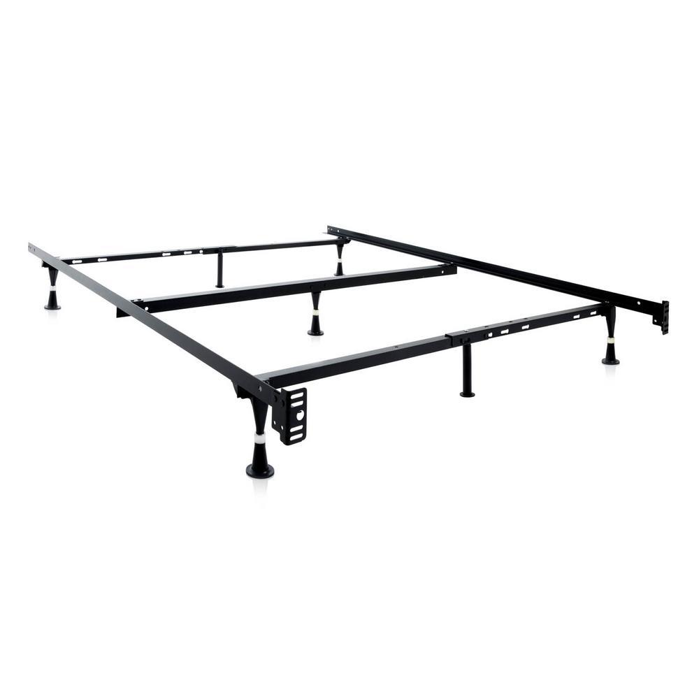 Structures Adjustable Metal Bed Frame-ST5033GL - The Home Depot