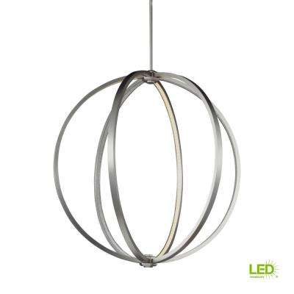 Khloe Satin Nickel LED Pendant