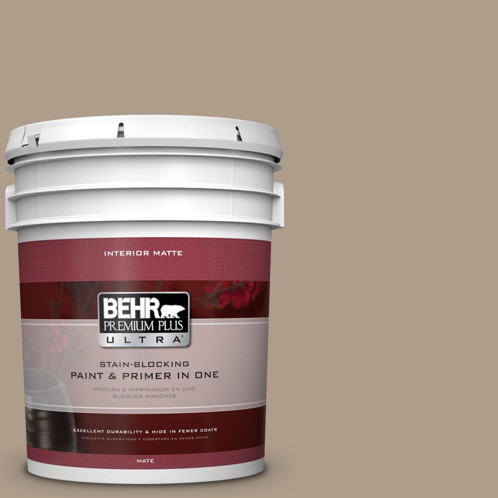 5 gal. #BNC-14 Over The Taupe Matte Interior Paint