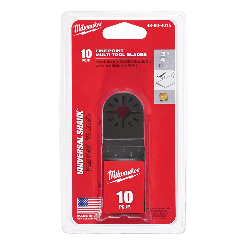 Milwaukee 1-5/8 in. Oscillating Tool Wood Flush Cut Blade (10-Pack)