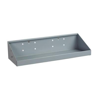 LocHook 18 in.W x 6-1/2 in.Deep Gray Epoxy Powder Coated Steel Shelf for LocBoard