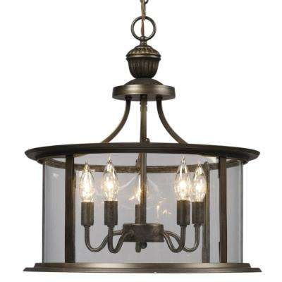 Negron 5-Light Oil Rubbed Bronze Incandescent Chandelier