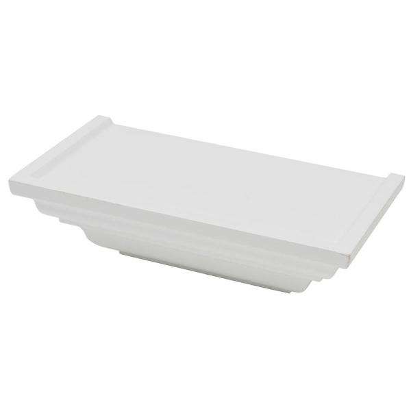 Classic Crown 9.8125 in. W x 5.125 in. D Floating White Crown Decorative Shelf