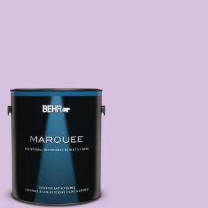 Behr Marquee 1 Gal 660a 3 New Violet Satin Enamel Exterior Paint Primer 945001 The Home Depot