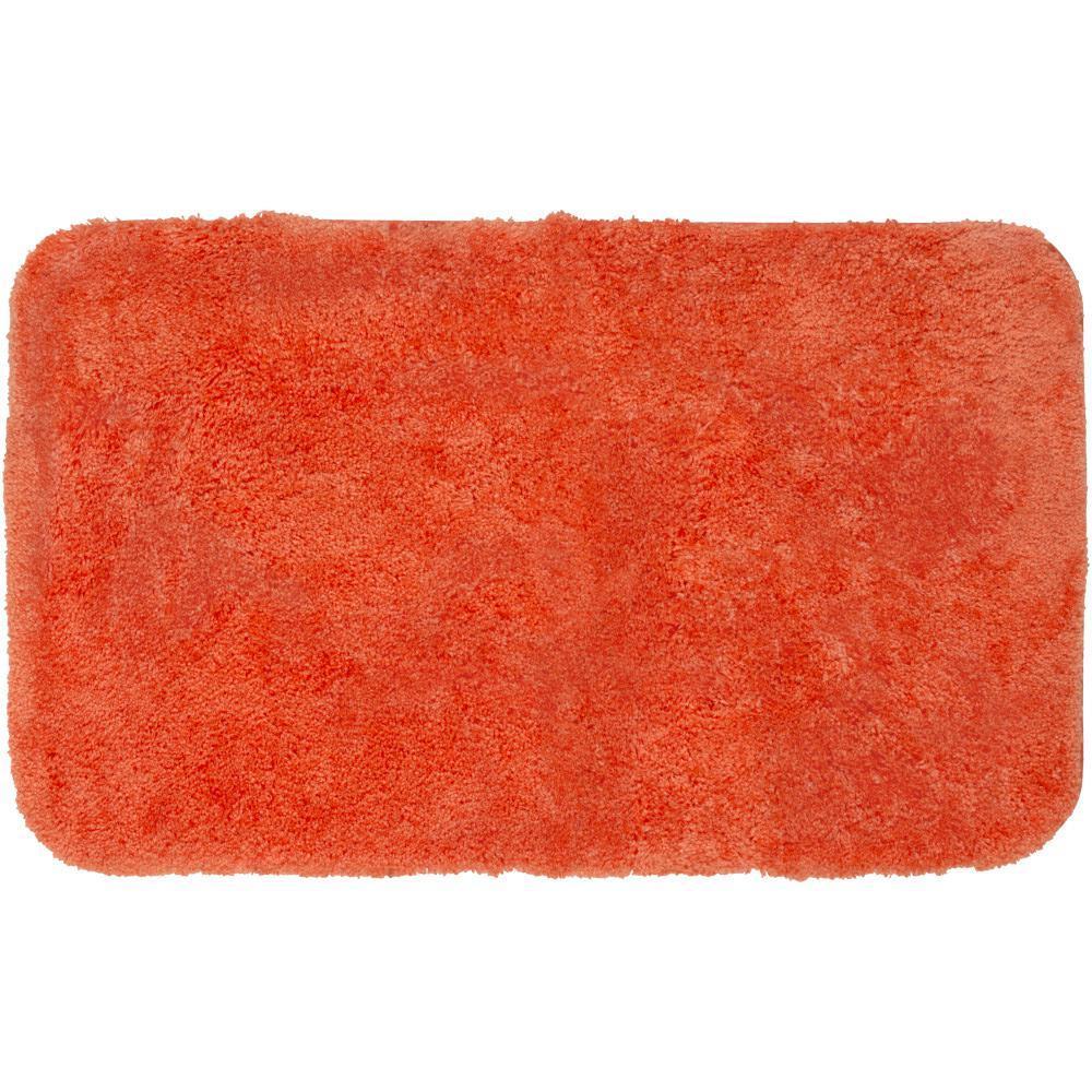 Royal Tangerine 24 in. x 40 in. Nylon Bath Rug