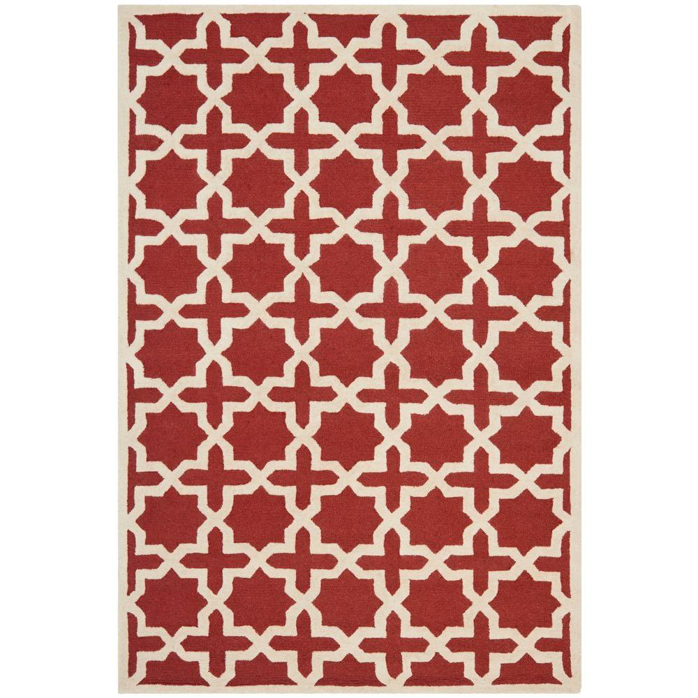 Safavieh Cambridge Rust/Ivory 6 ft. x 9 ft. Area Rug