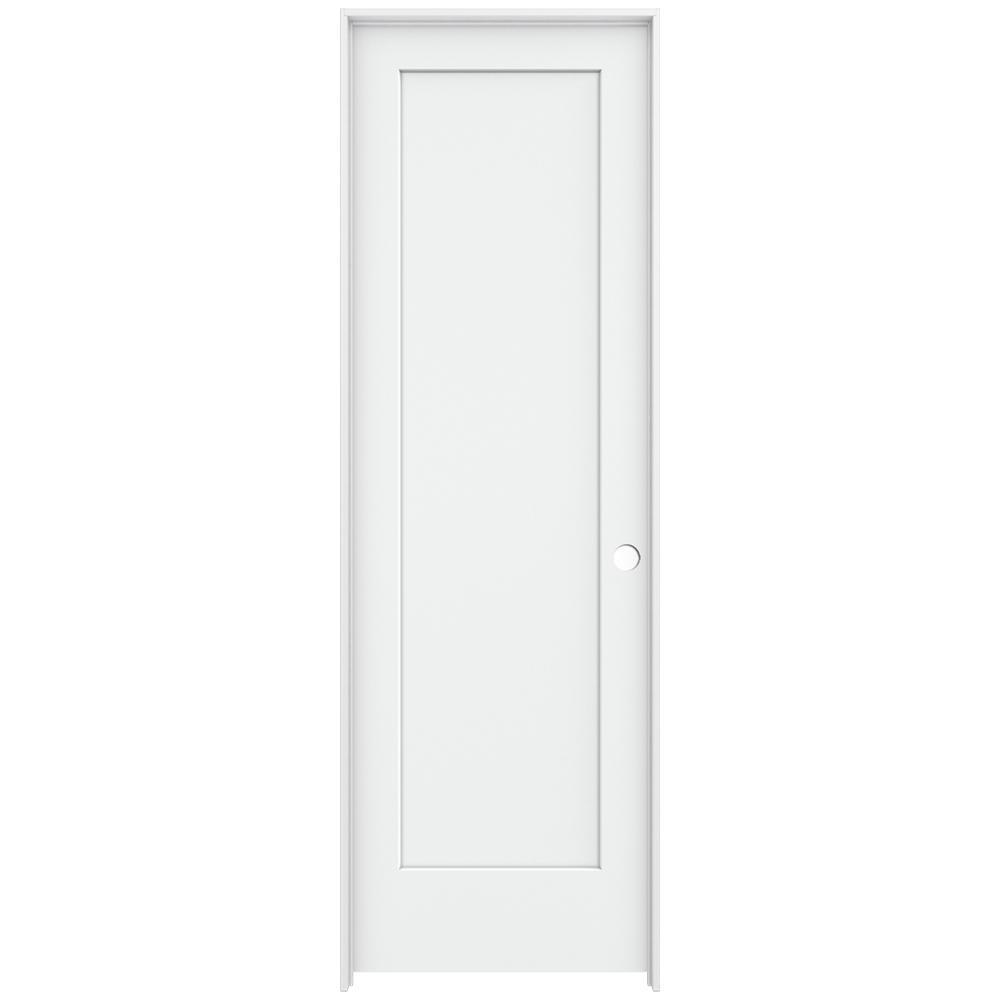 Jeld Wen 32 In X 96 In Madison White Painted Left Hand Smooth Solid Core Molded Composite Mdf