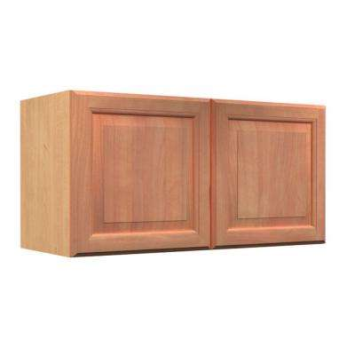 Ancona Ready to Assemble 30 x 18 x 12 in. Wall Cabinet with 2 Soft Close Doors in Cumin