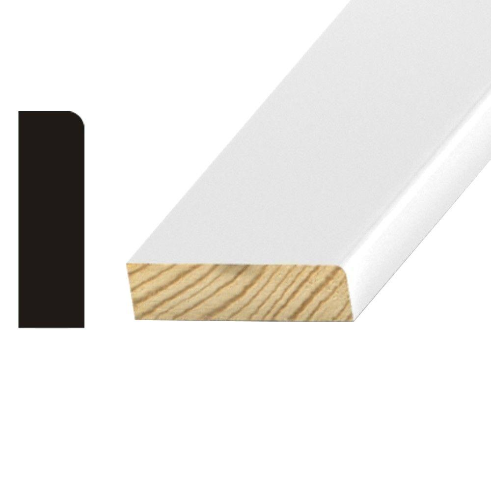 OP077 1/2 in. x 1-5/8 in. Primed Finger-Jointed Pine Stop Moulding