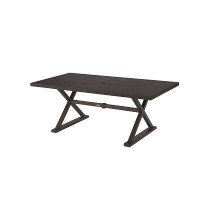 Patio Dining Tables Patio Tables The Home Depot - Rectangular metal patio dining table