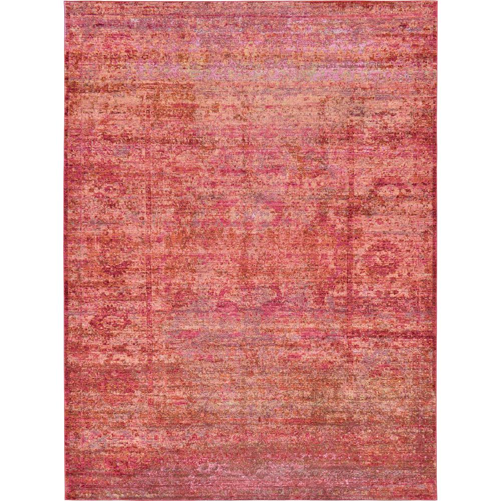 Aria Red 7 ft. x 10 ft. Area Rug