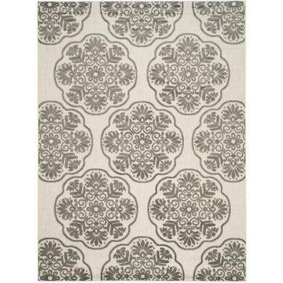 Cottage Indoor/Outdoor Cream/Gray 8 ft. x 11 ft. Area Rug