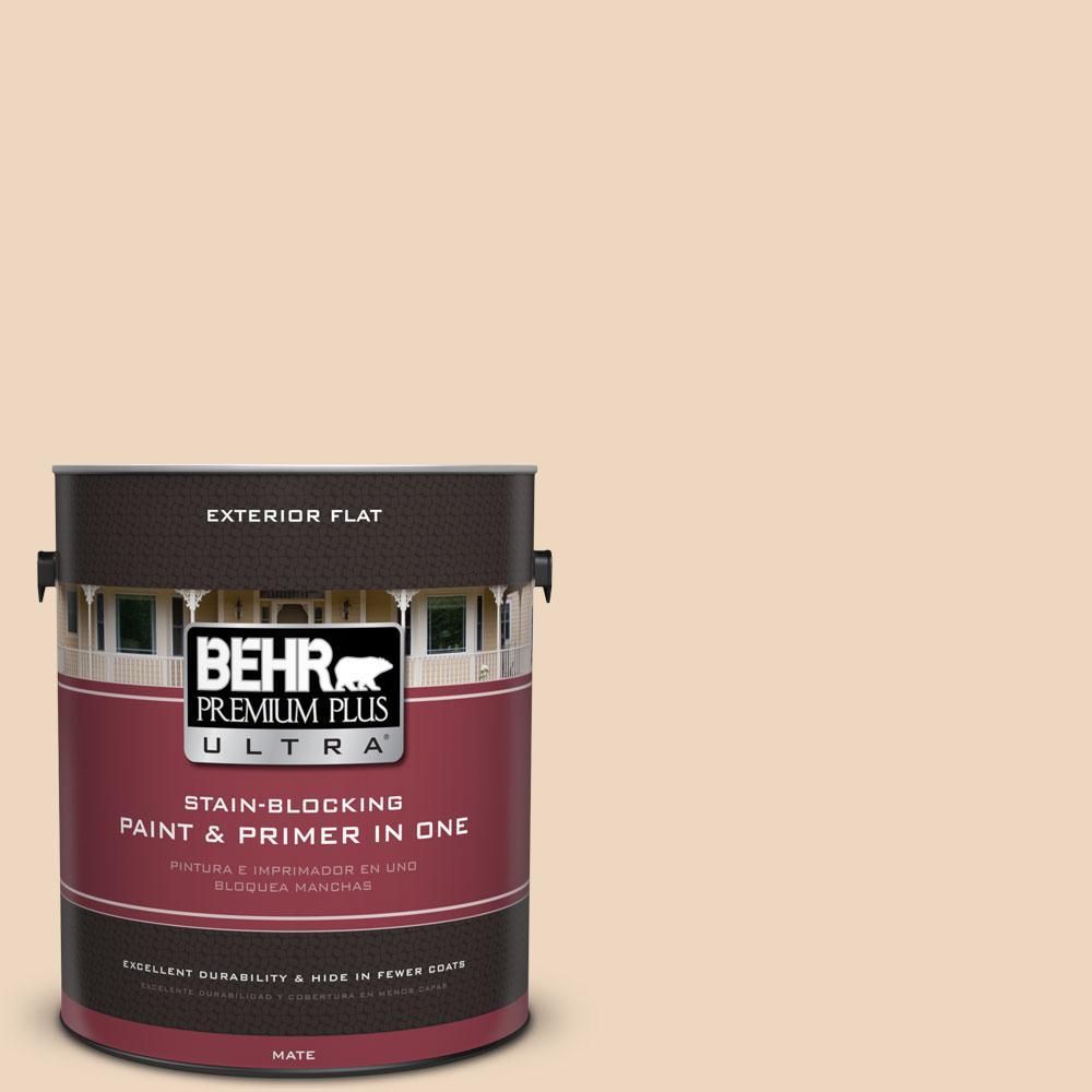 BEHR Premium Plus Ultra 1 Gal. #UL140-15 Porcelain Skin Flat Exterior Paint