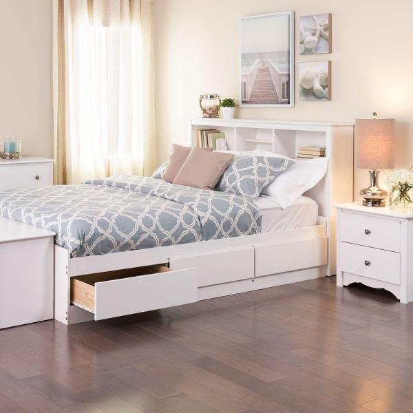 Prepac Monterey Queen Wood Storage Bed Wbq 6200 3k The Home Depot