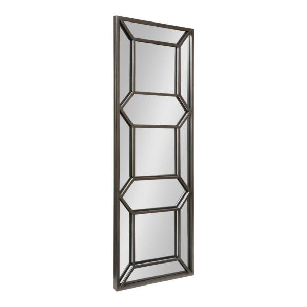 Kate and Laurel Nahla Rectangle Pewter Wall Mirror 214380