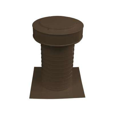 7 in. Dia Keepa Vent an Aluminum Static Roof Vent for Flat Roofs in Brown